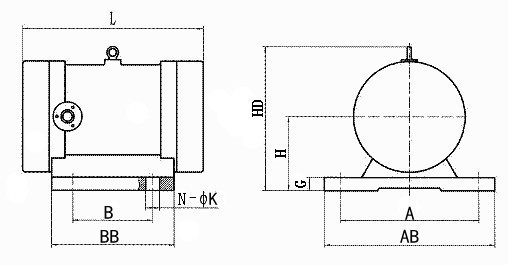 振动电机图纸